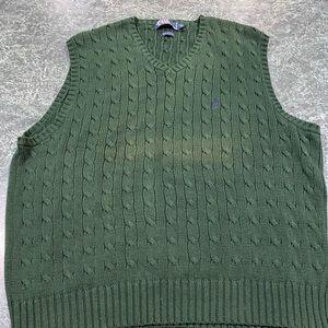 Polo Ralph Lauren Green Sweater Vest Size XL